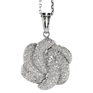 DIAMOND PUFFY SWIRL PENDANT