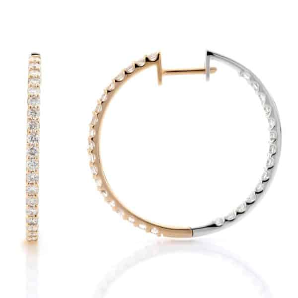 ROUND INSIDE-OUT HOOPS TWO TONE