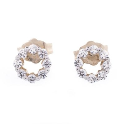O-RING DIAMOND EARRINGS