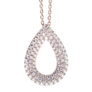 PEAR SHAPE DIAMOND PAVE SLIDE PENDANT
