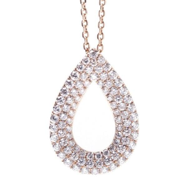 PEAR SHAPE DIAMOND PAVE SLIDE PENDANT