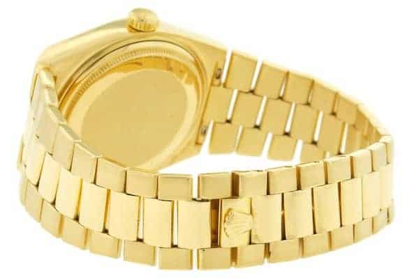 The integrated President bracelet of the Rolex Oysterquartz Day-Date