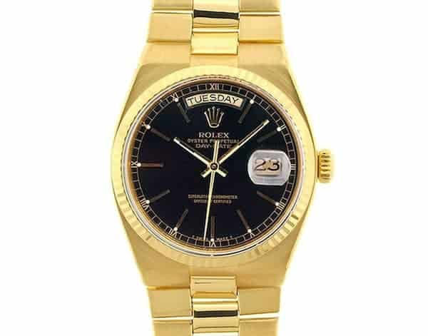 The Oysterquartz Day-Date President in yellow gold