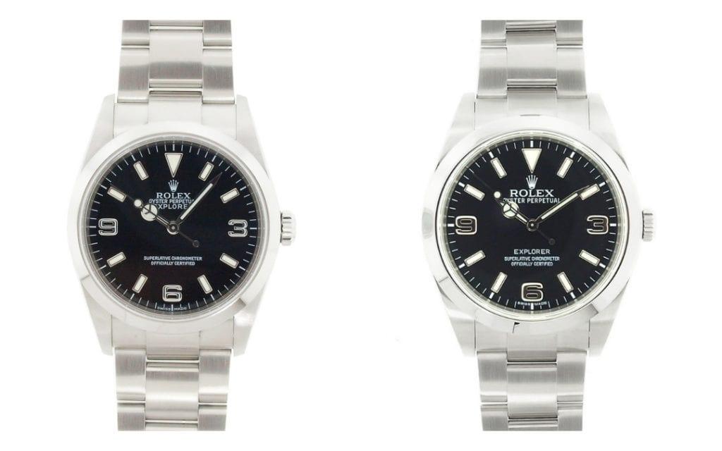 Rolex Explorer 114270 vs Rolex Explorer 214270