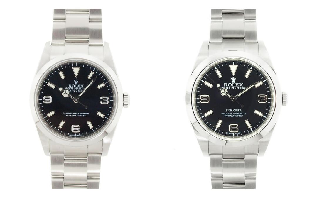 The Rolex Explorer 114270 vs. the Rolex Explorer 214270