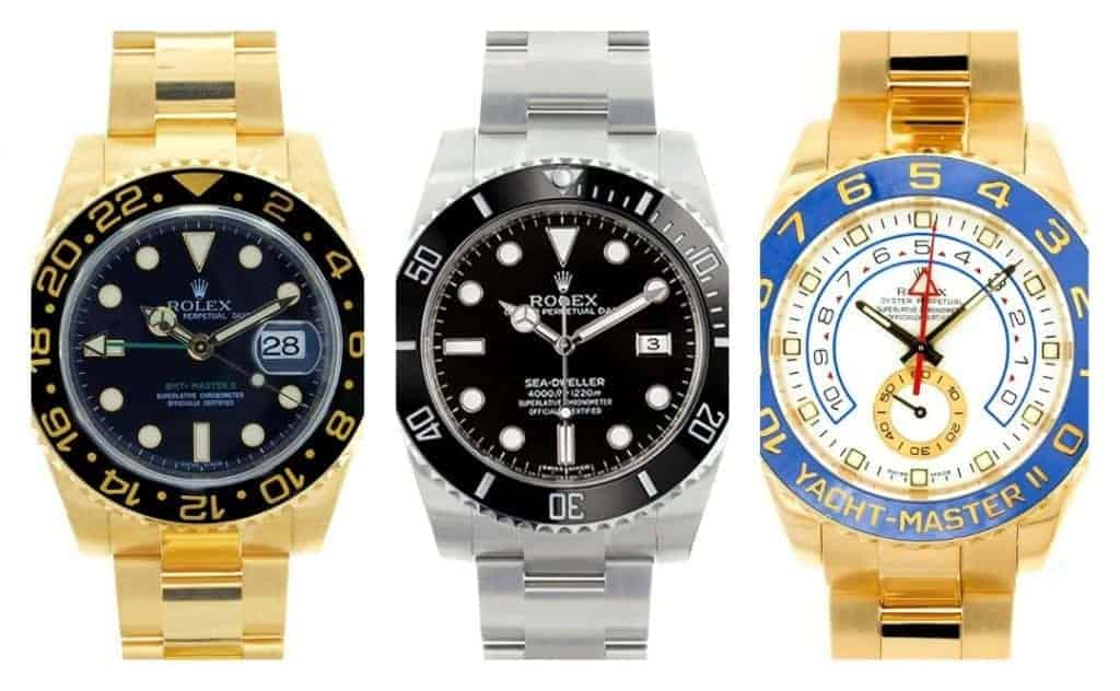 Rolex Watches with Cerachrom Bezels