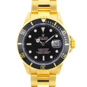 Yellow Gold Rolex Submariner 16618