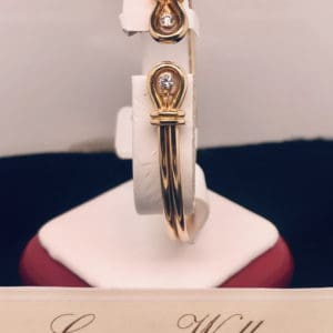 Cartier Gold and Diamond Bangle Bracelet