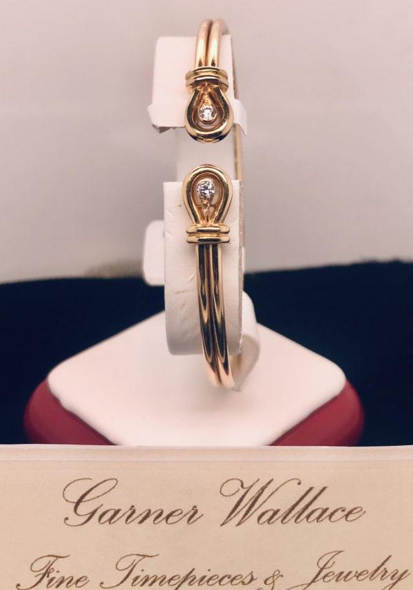 Cartier Gold and Diamond Bangle Bracelet