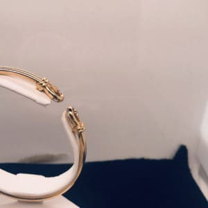 Front diamonds of the Cartier Bangle Bracelet
