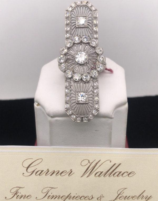 1930's Platinum and Diamond Art Deco Ring