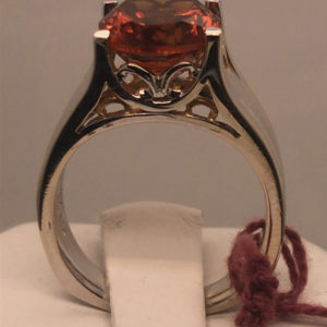side of Mandarin Citrine Ring