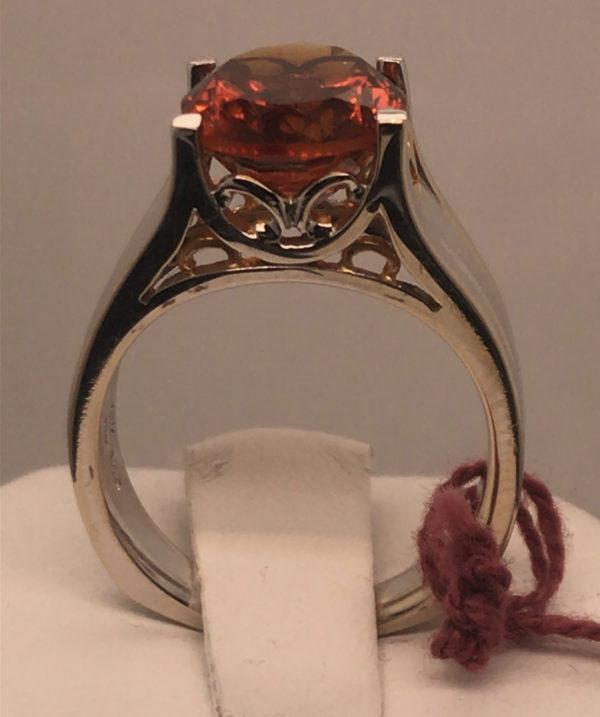 side of Mandarin Citrine Ring