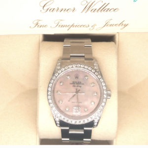 Rolex Air-King with diamond encrusted dial