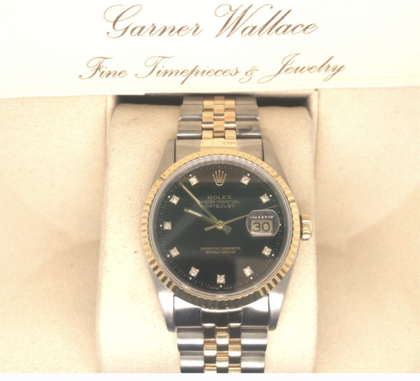 Rolex Datejust with Black dial